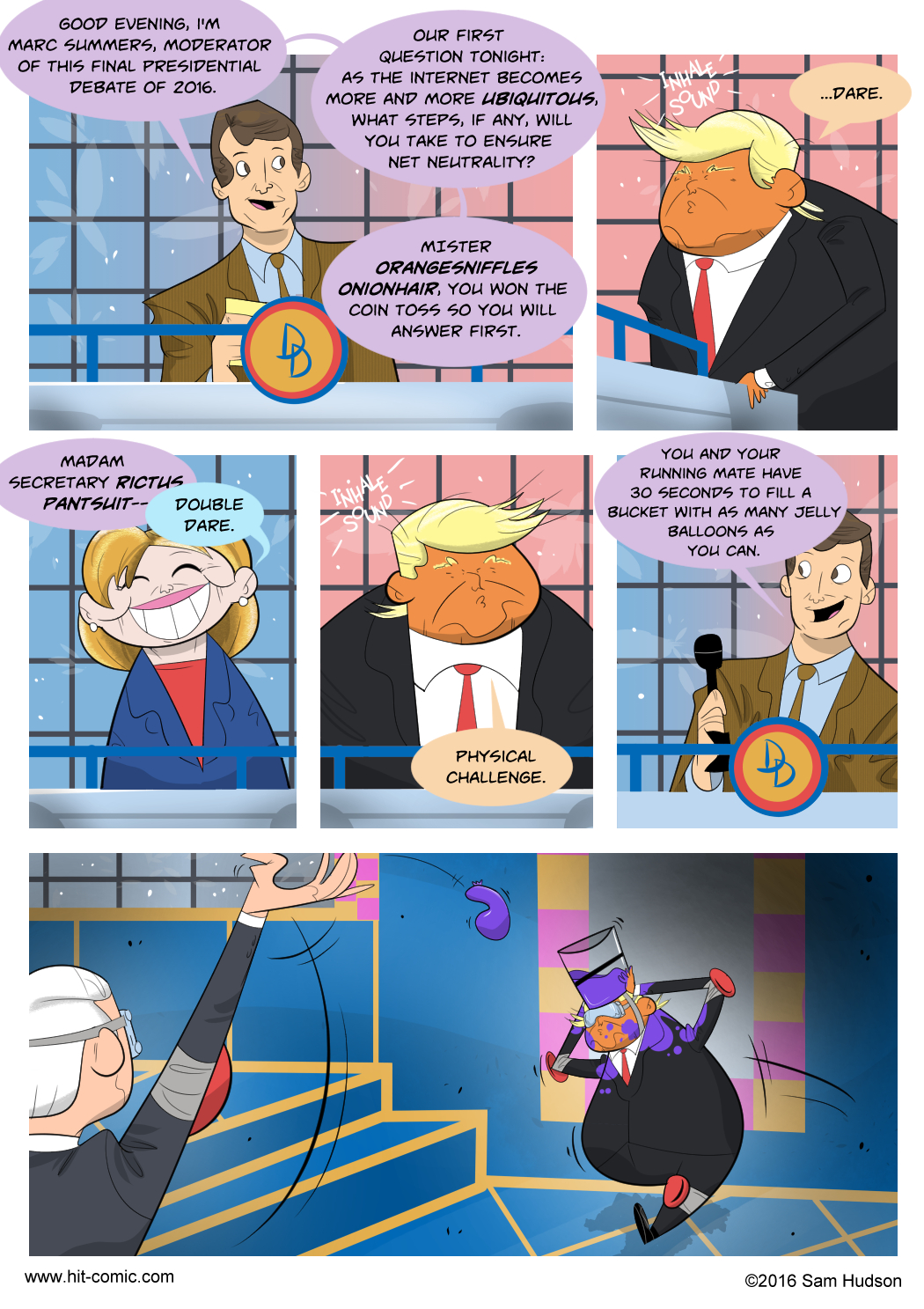 A Comic About What I Want To See At A Presidential Debate