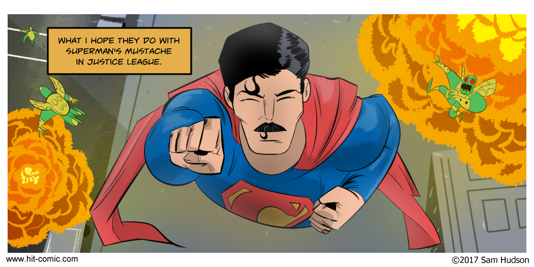 A Comic About Superman's Mustache